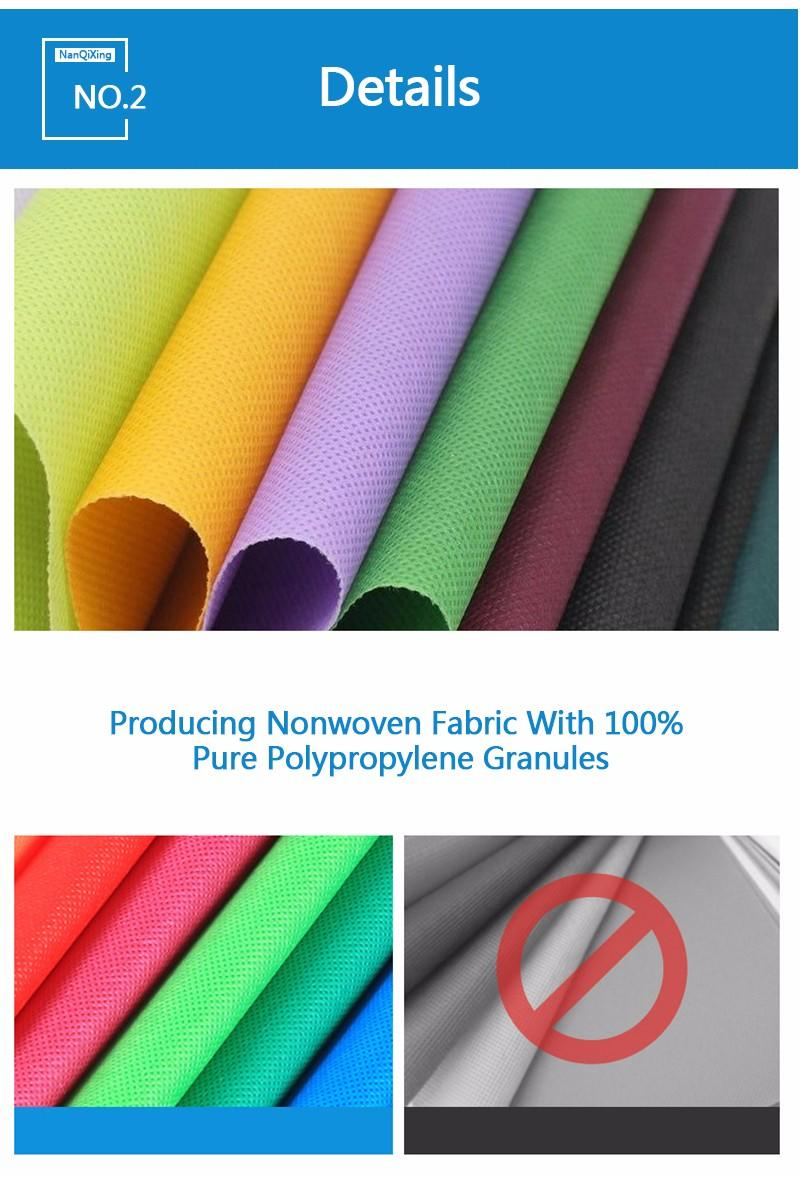 Custom pp non woven fabric bags making laminated non woven fabric manufacturer