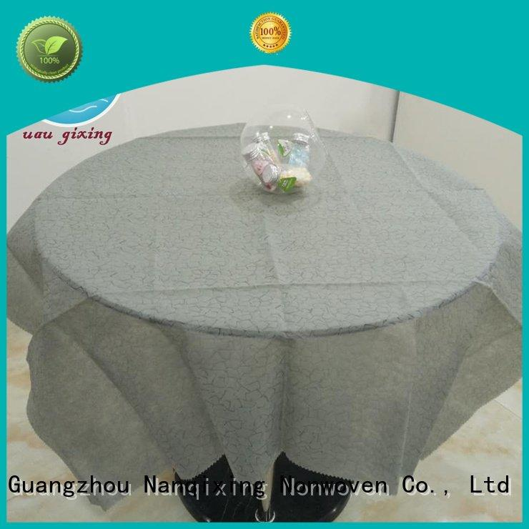 Custom non woven tablecloth nonwoven cloth different Nanqixing