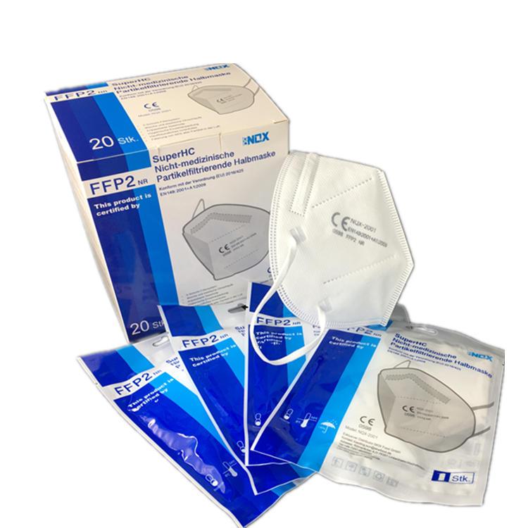 NQX FFP2 NR CE 0598 EN:149:2001+A1:2009 face mask