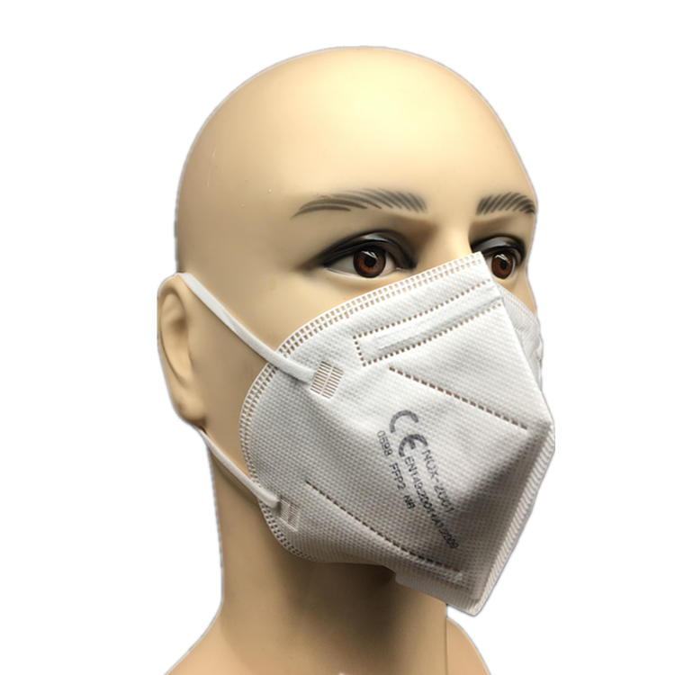 high quality White List Factory CE Certified ffp2 Disposable Respirator Face Dust KN95 Mask