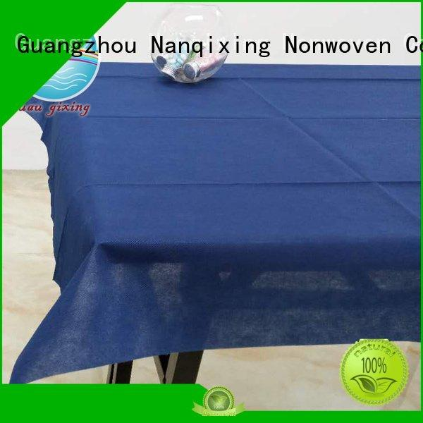 Nanqixing disposable tnt wedding non woven fabric for sale style