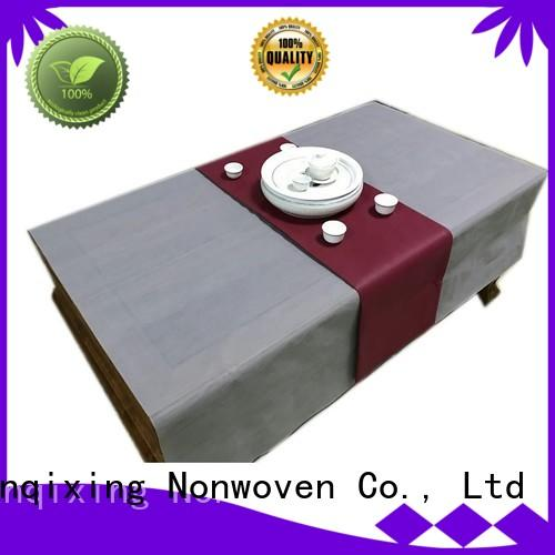 perforated restaurants non woven tablecloth nonwoven Nanqixing Brand