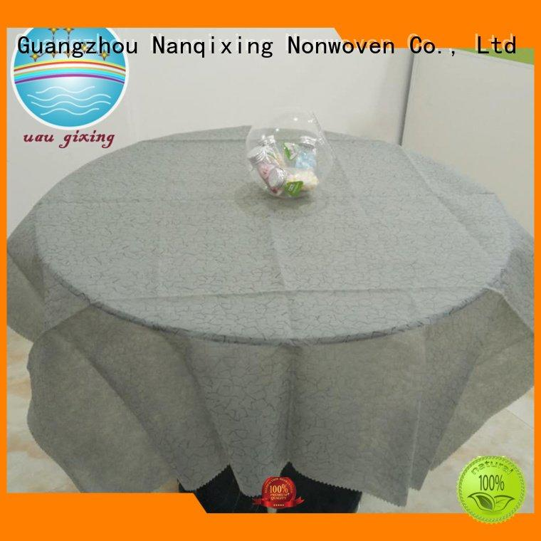 Custom non woven tablecloth different colours pp Nanqixing