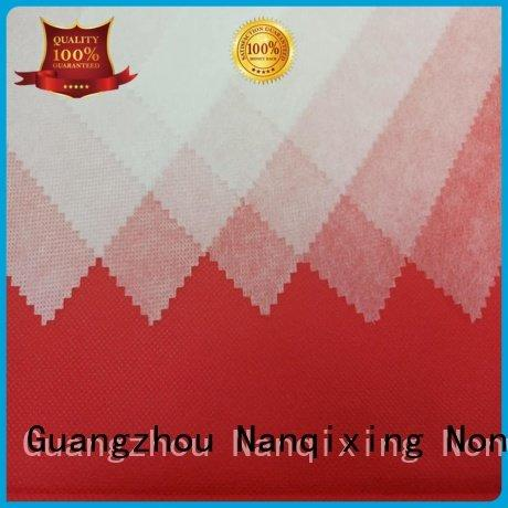 Nanqixing Brand spunbond nonwoven non woven fabric products furnishings pp