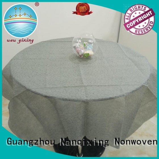 Nanqixing Brand designs cloth customized non woven tablecloth