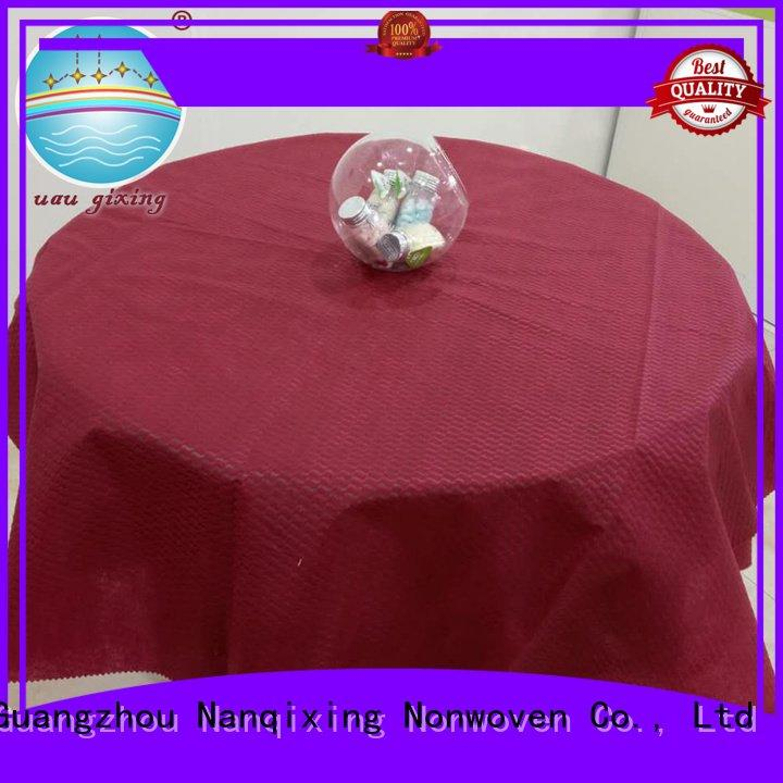 pp wedding tnt spunbond Nanqixing non woven tablecloth