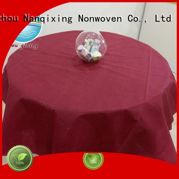 non woven fabric for sale patterns designs OEM non woven tablecloth Nanqixing