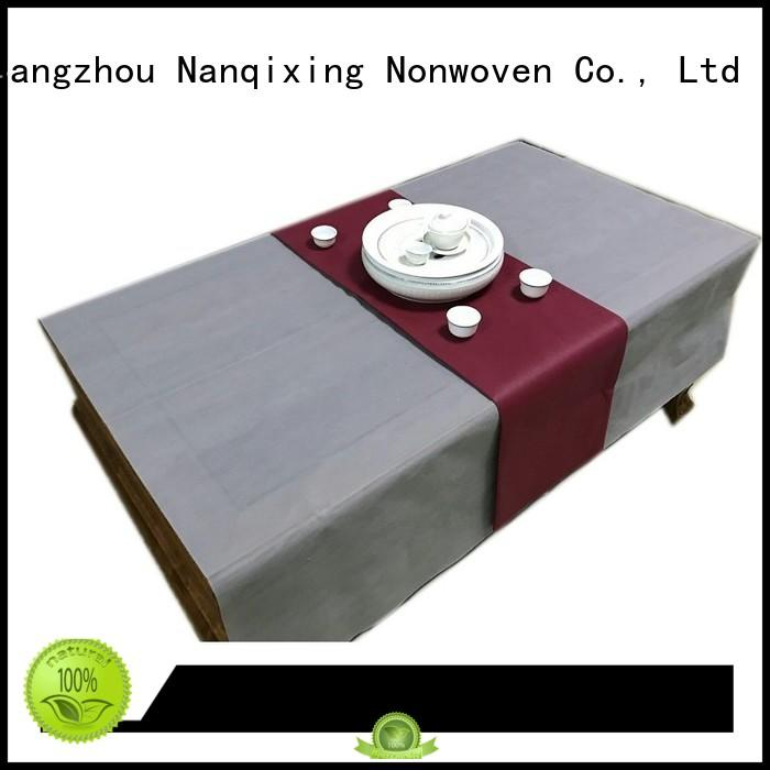 Quality Nanqixing Brand various sizes non woven tablecloth