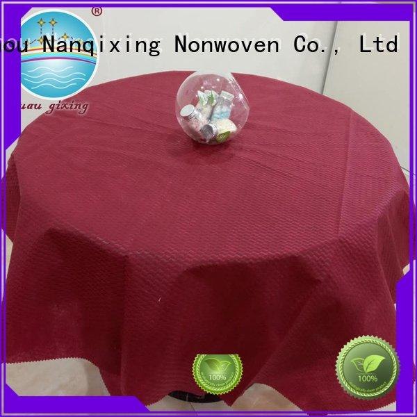 OEM non woven fabric for sale pp disposable hotels non woven tablecloth