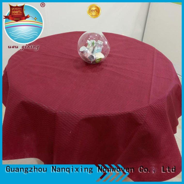 non woven fabric for sale disposable spunbond patterns perforated Nanqixing