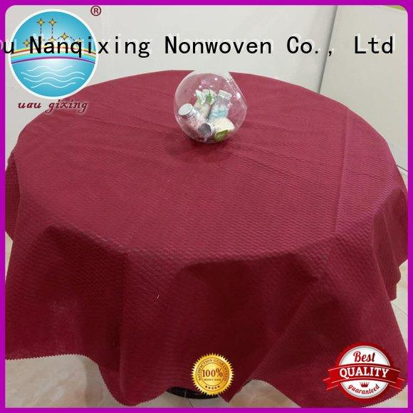 Quality non woven fabric for sale Nanqixing Brand spunbond non woven tablecloth