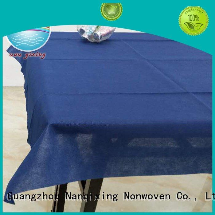 non woven fabric for sale spunbond perforated non woven tablecloth Nanqixing Warranty