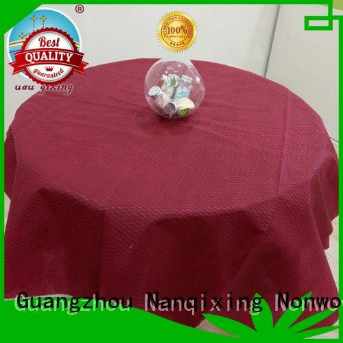Nanqixing tnt non woven tablecloth sizes cloth