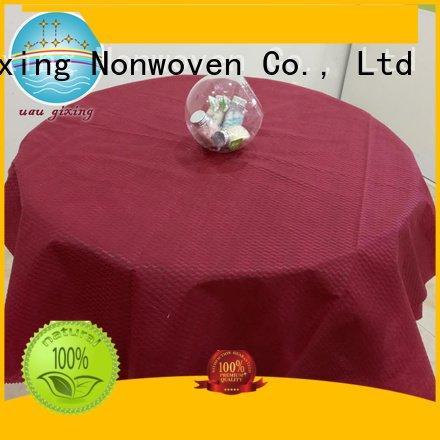 Custom non woven tablecloth customized beautiful hotels Nanqixing