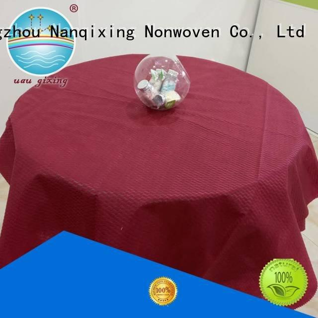 non woven fabric for sale hotels Nanqixing Brand non woven tablecloth