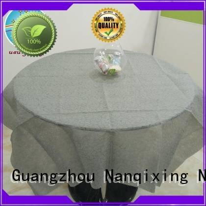 Nanqixing non woven tablecloth pp table designs beautiful