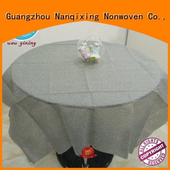 Nanqixing non woven fabric for sale different cloth customized table